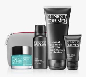 -5pcs Clinique For Men Maximum Hydrator 50ml + Charcoal Face Wash 200ml Gift Set