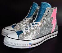 Converse Chuck Taylor All Star 70 Hi Shimmering Pride Silver Blue Pink GLITTER