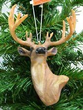 68807 Lodge Bear Deer Elk Tree-styled Glass Christmas Ornament Wildlife Hunting
