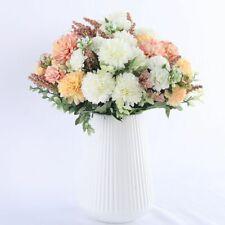 Ball White Dandelions Artificial Hydrangea Silk Fake Flowers Bouquet Decorations