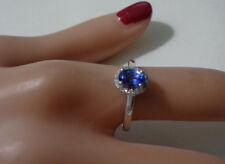 14KT YG TANZANITE & DIAMOND  RING BY CATHERINE JONES CAMBRIDGE   SIZE 7.5   6MM