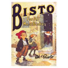 More details for vintage bisto gravey metal sign kitchen retro advertising sign oxo bovril garage