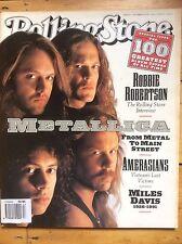 Rolling Stone #617 Metallica cover, Miles Davis, Robbie Robertson, Album Covers