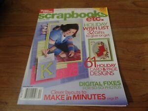 Dec 2004 Better Homes and Gardens Scrapbooks ETC Magazine #2348