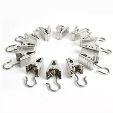 20x STAINLESS STEEL SMALL CURTAIN HANGING BULLDOG CLIPS CLAMPS PEGS UNIVERSAL