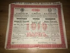 More details for bond loan chemin d'orel-griasi russia 1889 railway share certificate 1000 marks
