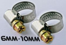 2x 6mm 10mm Stainless Steel Jubilee Type Hose Clips Clamps Pipe Lpg Prima Screw