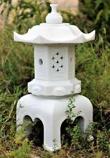 Dinova Pagoda White Asian Garden Ornament Statue Sculpture