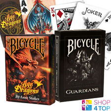 2 DECKS BICYCLE 1 ANNE STOKES AGE OF DRAGONS AND 1 GUARDIANS PLAYING CARDS USPCC