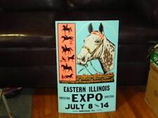 """1970`S EXPO & HORSE SHOW PROMO POSTER BOARD ART - DANVILLE, IL. - ARTWORK """"A"""""""