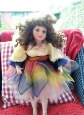 Collectible fairy / ballerina doll with rainbow petal skirt, 20 inches, 1990's