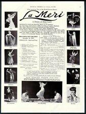 1938 La Meri 11 photo dance tour booking trade print ad