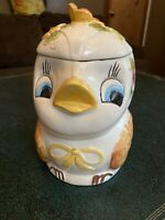 Vintage Chick Cookie Jar Made In Brazil