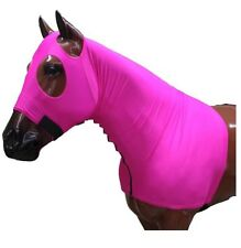Showman Form Fitting, Breathable Pink Lycra Hood with Zipper Neck - Size Large