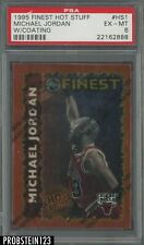 1995-96 Topps Finest Hot Stuff Michael Jordan Chicago Bulls HOF w/ Coating PSA 6