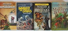 1977/86 Del Rey Sci Fi Fantasy Lot of 4 paperbacks VF/FN+ Chalker Hardy Hogan