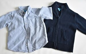 Boys Size 4/4T Children's Place Sweater And Dress Shirt