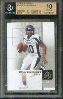 "Historic! Colin Kaepernick 2011 ""SP AUTHENTIC"" Rookie Card. BGS 10!  PSA RC"