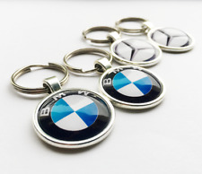 Car Logo Keychain Glass Dome Luxury Keyring Gift