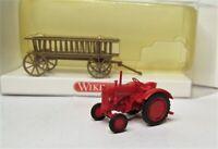 Wiking 1:87 Hanomag R16 Schlepper mit Leiterwagen OVP 893 01 Schlepper Traktor