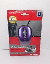 Microsoft Wireless Mobile Mouse 3000 Model 1359 - Purple/Black