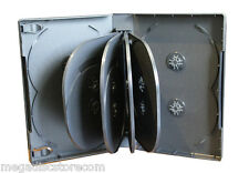 New 2 Pk Black Multi DVD Case Box 33 mm 12 Discs Holder W Flap Premium