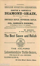 1876 ADVERT Halford Leicestershire Table Sauce 28 India Wharf Boston Mass
