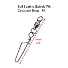 10 X Size 7# Ball Bearing Fishing Swivels with Coastlock Snap , Fishing Tackle