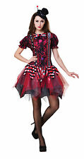Horror Jester Clown Lady Halloween Horror Fancy Dress Costume Size 10-14 P9349