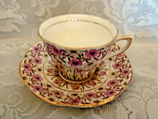 Rare QUEENS ROSINA English Chintz Fine Bone China Cup & Saucer - Made in England