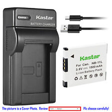 Kastar Battery Slim Charger for Canon NB-11L NB-11LH Canon A2300 Canon A2400 IS