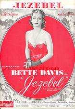 "JEZEBEL Sheet Music ""Jezebel"" Bette Davis Henry Fonda George Brent"