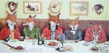 HARRY NEILSON MOUNTED PRINT MR FOX`S HUNT BREAKFAST FOX HUNTING BEAGLE SPORTING