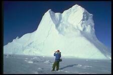 184081 Iceberg And Photographer A4 Photo Print