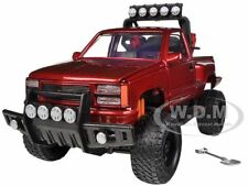 1992 GMC SIERRA GT PICKUP TRUCK OFF ROAD RED 1/24 BY MOTORMAX 79136