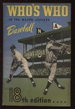 1950 Who's Who in Major League Baseball by John Carmichael EX+