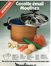 Publicité Advertising 1977 Autocuiseur la Cocotte émail Moulinex