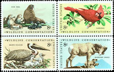 1972 8c Wildlife Conservation, Block of 4 Scott 1464-67 Mint F/VF NH