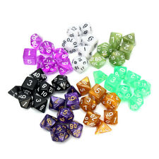 126Pcs Polyhedral Dice  Dungeons Dragons DND RPG Table Games Activity 18  UK I