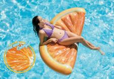 "70"" Intex Inflatable Orange Slice Mat Beach Lounger Pool Float Air Novelty Lilo"