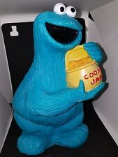 Vintage Sesame Street Cookie Monster Bank by Illco - 9 inches tall