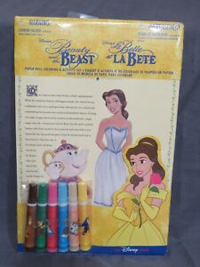New Vintage Disney Store Beauty and the Beast Paper Doll Coloring & Activity Set