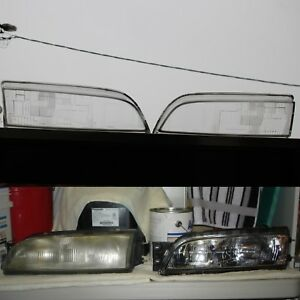 NissaN s14 Oem LENS GLASS COVER FOR 95 Zenki Headlight 200sx 240sx Silvia Sr20