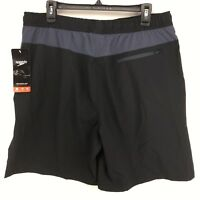 Speedo | Men's Tech Volley UltraSoft Trunks Board Shorts | MEDIUM | Black | NWT