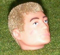 VINTAGE ACTION MAN 40th REPLACEMENT HEAD FLOCKED FUZZY BLONDE HAIR