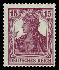 EBS Germany 1920 Germania 15 Pfennig Michel 142 MNH**