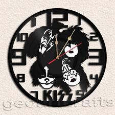 Kiss Band Wall Clock Vinyl Record Clock Handmade