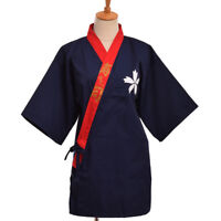 Haori Kimono Sushi Cosplay Yukata Japanese Sushi Restaurant Chef Uniform Coat