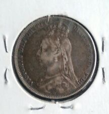 New listing 1892 Great Britain Silver Shilling Nice Grade Coin