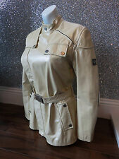 * REDUCED * Belstaff Ivory Leather Asymmetric Ivory Leather Jacket Size 42 UK 10